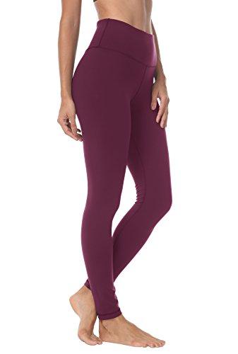 QUEENIEKE Damen Yoga Leggings Hosen Trainings Laufende Pfirsich Hüfte Farbe Rose rot Größe Medium