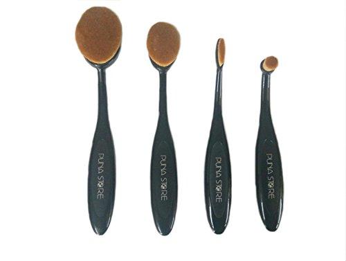 Puna Store® 4 Piece Oval Brush Set
