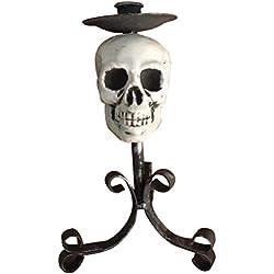 OUNONA 1 Pieza portavelas Ghost Zombie Forma de candelabro Pilar Vela Soporte Mesa Centro Mesa decoración de Mesa