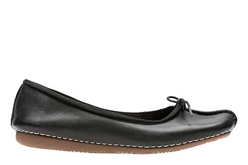 Clarks Damen Freckle Ice Mokassin, Schwarz (Black Leather), 40 EU -