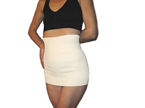 Fascia elastica in lana -bianco, m (76-90 cm.)- pancera guaina cintura lombare addominale renale per la schiena elasticizzata termica snellente contro mal di schiena - unisex uomo donna