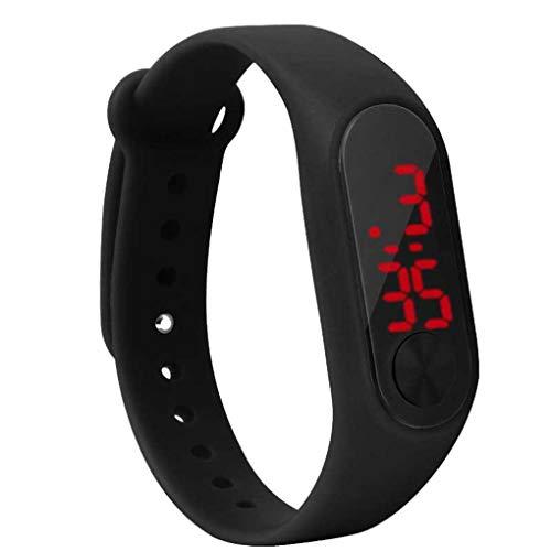 Screen-Display Kinder Thin-Digital-Armbanduhr Schüler Fitness-Armband Jungen-Mädchen-Sport-Zubehör