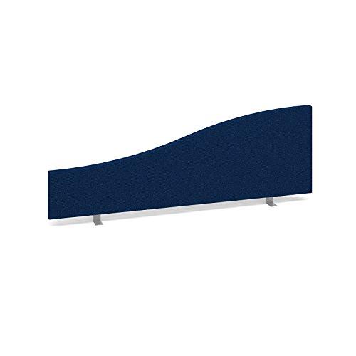 Bureau-lphant-Oe08-es1200-W-b-Wave-Desk-Mounted-cran-Longueur-1200-mm-Hauteur-400200-mm-Profondeur-40-mm-recouvert-dun-tissu-bleu-Fourni-avec-2-x-arrire-Supports-et-1-x-Fixation-latrale