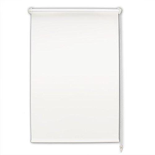AuraLum®Estor Enrollable Cortina opacidad Liso 70cm*120cm Blanco