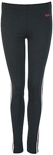 Frogbox Leggings mit Steg & Gallonstreifen schwarz