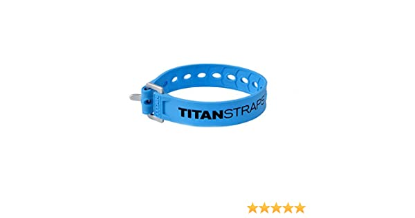 TitanStraps 30, Fluorescent Blue 70-lb Titan Straps Pack of 2 Industrial Working Load