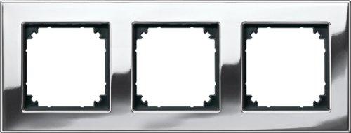 Merten 475339 M-PLAN-Metallrahmen, 3fach, Chrom -