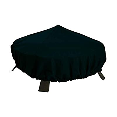 Qees Fire Pit Cover Waterproof Garden Barbecue Cover Heavy Duty Round Outdoor Patio Heater Protector For Any Weather Condition Black from ZhuoLang