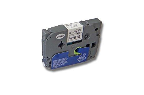 Cartuccia a nastro VHBW 9mm per Brother P-Touch 200 310 550 900 1010 1090 1200 (1750 Etichette)