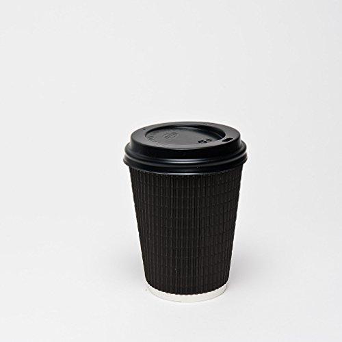 sortie-thali-100-x-papier-kraft-noir-8-g-ripple-couvercles-noirs-en-papier-3-plis-jetables-tasses-a-