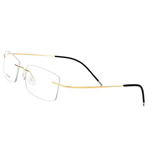 ZMK-720 Sonnenbrillen Myopie Brillengestell Männer Und Frauen Modelle Single Wire Line Rahmenlose Ultraleichte Quadratische Brillengestell Flachspiegel @ A