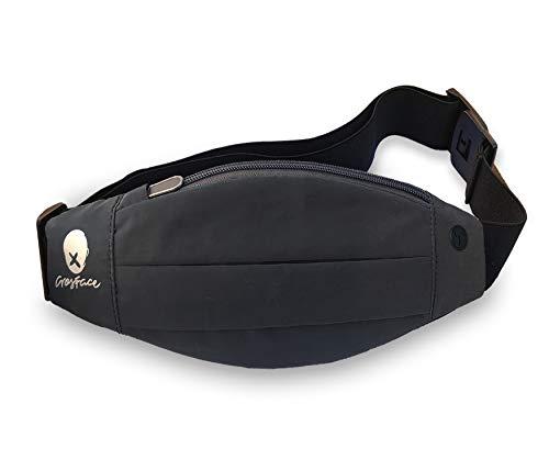 Crosface - cintura da corsa riflettente per tutti i telefoni (iphone x/8/7/6/xr/xs/max/plus, samsung galaxy s9/s8/s7/plus e altri) leggero, riflettente e sicuro, unisex, reflective, taglia unica