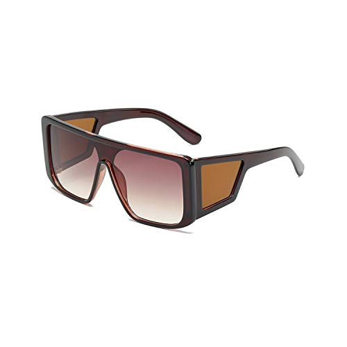 Sportbrillen, Angeln Golfbrille,NEW Oversized Square Sunglasses Women Men One-Piece Mirror Big Frame Sun Glasses Fashion Retro Lunette De Soleil Uv400 tea tea
