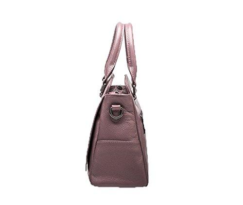PACK Big Fashion Trend Borsa A Tracolla Messenger In Pelle Messenger Bag Litchi Pattern Handbag,B:Gray D:TaroPurple