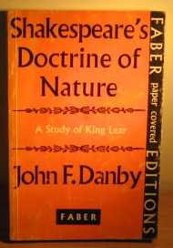"""Shakespeare's Doctrine of Nature: """"King Lear"""""""
