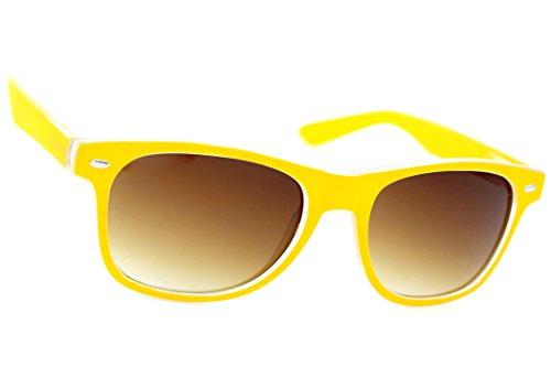 Damen Herren Lesebrille Sonnenbrille +Zip Case +1.5 +2.0 +3.0 +4.0 Slim Sun Readers Perfekt für den Urlaub Retro Vintage Brille MFAZ Morefaz Ltd (+2.00 Sun, Yellow)
