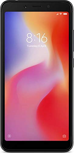 Redmi 6 (Black, 3GB RAM, 64GB Storage)