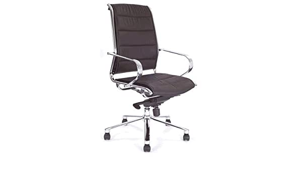 Chellgrove DP8002 Designer Chrome Frame Leather Office Chair