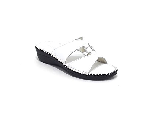 Susimoda scarpa donna, modello pantofola 1572, in pelle, colore bianco