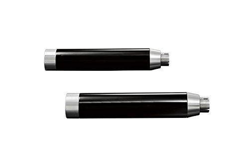HIGHWAY HAWK HH657-2003 Schalldämpfer STRAIGHT CUT, schwarze Abdeckung, H-D FXDF FAT BOB 08-, FXDWG WIDE GLIDE 10 -, E-gepr.
