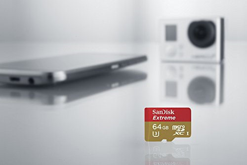 SanDisk Extreme 64GB MicroSDXC UHS-1 Card with Adapter (SDSQXNE-064G-GN6MA) [Newest Version]