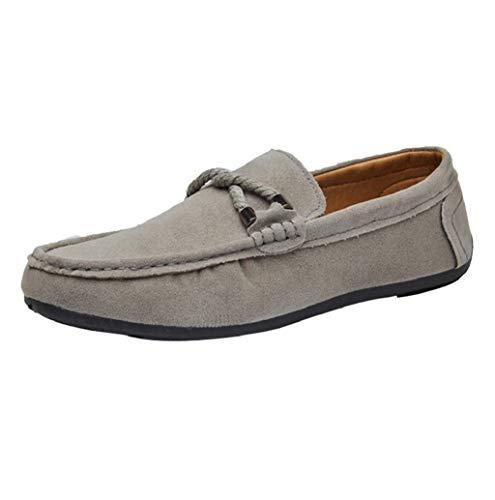 Herren Mokassins Slipper Klassische Slip on Weich Comfort Wildleder Loafers Schuhe Minimalistisch Flache Fahren Schuhe Bootsschuhe Slippers Pantoffeln 39-44 EU TWBB