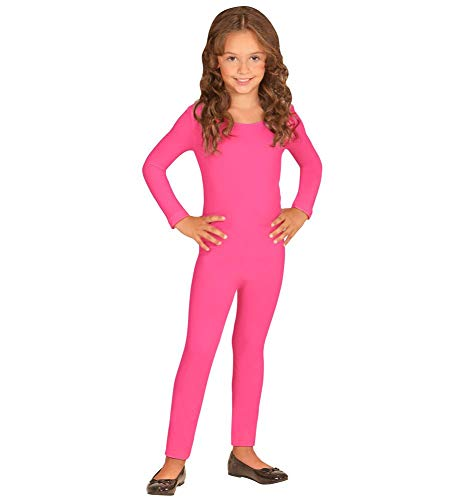 Kostüm Halloween Ballett Tänzer - shoperama Kinder Bodysuit Langarm Neonpink ab 5 Jahre Ballett Flamingo Tänzerin Tänzer Mädchen Junge Kostüm-Zubehör Karneval Pink, Größe:140-152