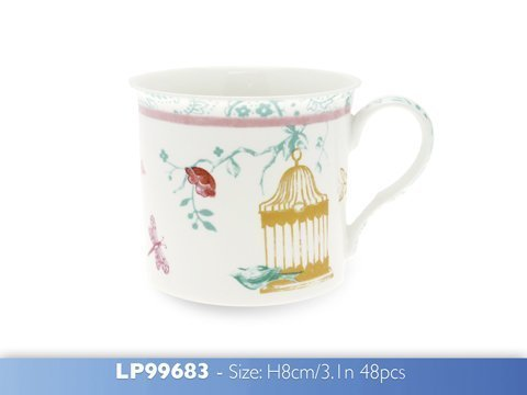 [LP99683] On Sale, Reduced to Clear - Leonardo Butterfly Blossom Fine China Palace Mug, Smaller Mug for Mum, Nan, Gran or Grandma, Gift Boxed, Make ideal Present by Leonardo