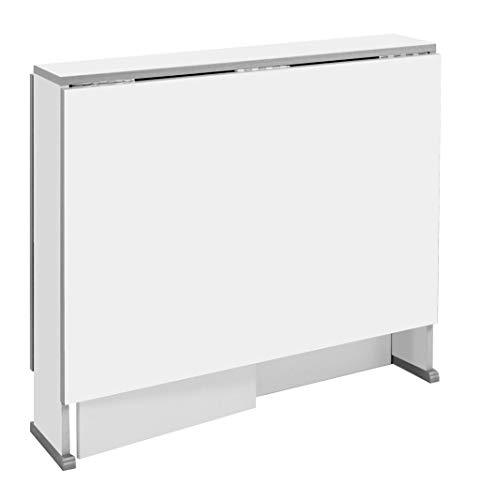 Suarez - Mesa swing alas abatibles, medidas 80 x 75/135 x 75 cm, color blanco