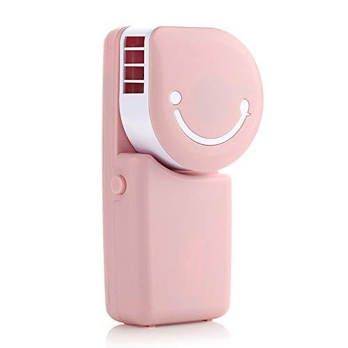Tragbarer Klimaanlage Lüfter, Mini-Smiley-Wiederaufladbarer Lüfter, Ultra-leiser Wandlüfter Winkel Einstellbar für Indoor Outdoor-Reisen Taylor Gadgets