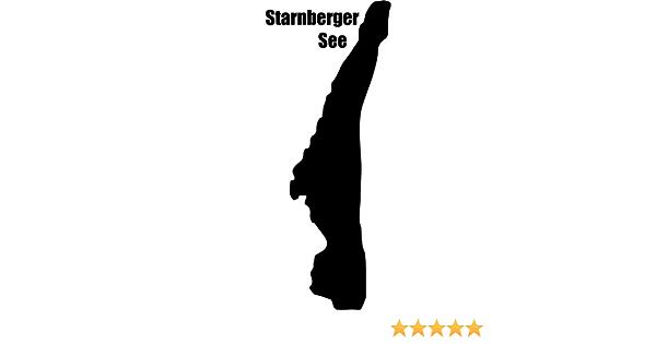 Samunshi Starnberger See Aufkleber  25 Farben 8 Größen