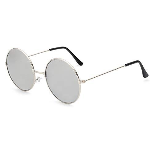 GJYANJING Sonnenbrille Vintage Kind Uv400 Linse Polycarbonat Sonnenbrille Jungen/Mädchen BrilleSpiegel Runde Legierung Rahmen Toad Sunglasse