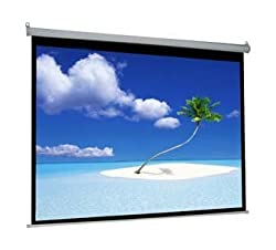 Luzon Dzire Motorised Projector Screen 8 X 6 feet In Imported Matte White Fabric (Aspect Ratio 4 : 3)