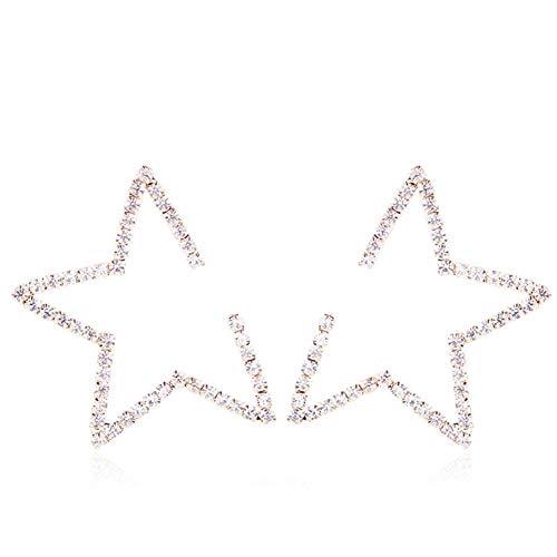 LISA Kreative Fünfzackigen Stern Ohrstecker, Persönlichkeit Übertreibung Ohrringe Weibliche Einfache Temperament Anti Allergie Nadel