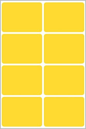 Avery Zweckform 62026 Living Etiquetas resistentes a la intemperie, 16 unidades de 47,5 x 35 mm, 8 unidades de 47,5 x 73 mm, color amarillo