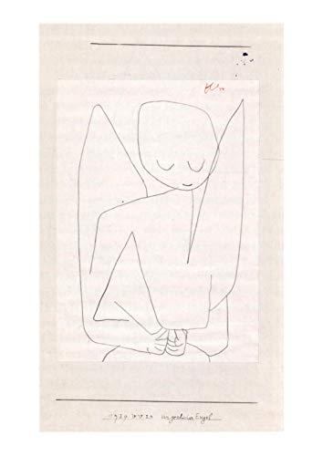 Spiffing Prints Paul Klee - Vergesslicher Engel - Extra Large - Semi Gloss - Framed