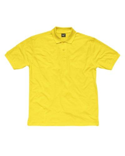 SG Herren Baumwolle Polo Shirt Gelb - Gelb