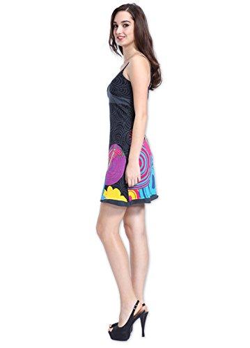 Coton Du Monde - Robe SANDRA Gris Multicolore