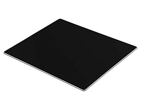 Honkid Compatible with MacBook, Magic Mouse, PC, Laptop Aluminium Mauspad, Aluminium-Mausunterlage, Mauspad Metall mit Glatter Pr?zisionsoberfl?che und Rutschfester Gummibasis,Schwarz(23 x 18 CM) -