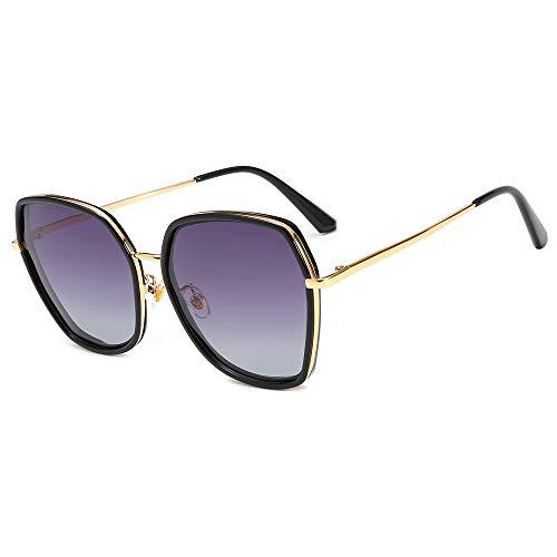 nobrand Polarisierte Sonnenbrille Großhandel europäischen und amerikanischen Netz rot Retro Metallbrille Polygon Damen Sonnenbrille