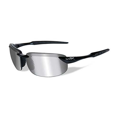 WILEY X TOBI Polarized Silver Flash (Smoke Grey) Gloss Black Frame