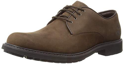 Timberland Stormbucks Plain Toe, Zapatos de Cordones Oxford para Hombre, Marrón Dark Brown Nubuck...