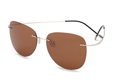 Tl-sunglasses 100% di titanio silhouette occhiali da sole polaroid super leggero uomini senza montatura di occhiali da sole polaroid occhiali polarizzati,titanio zp2117 c3