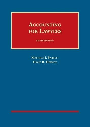 Accounting for Lawyers (University Casebook Series) by Matthew Barrett (2015-06-16)