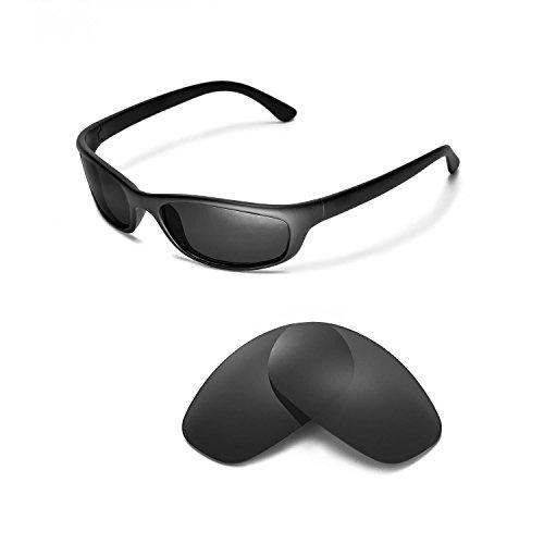 Walleva Ersatzgläser für Ray-Ban RB4115 Sonnenbrille - Mehrfache Optionen (Schwarz - polarisiert)