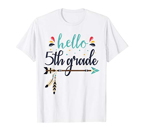 Hello 5th Grade Lehrer zurück zum ersten Schultag T-Shirt (Schule-geschenke Für Lehrer Zu Zurück)