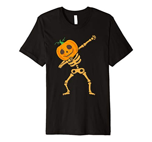 Sanftes Kürbis Skelett Jack O 'Lantern Halloween DAB Shirt