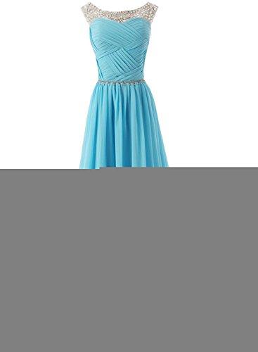 Azbro Women's Sleeveless Floor Length Evening Prom Wedding Dress Royal Blue