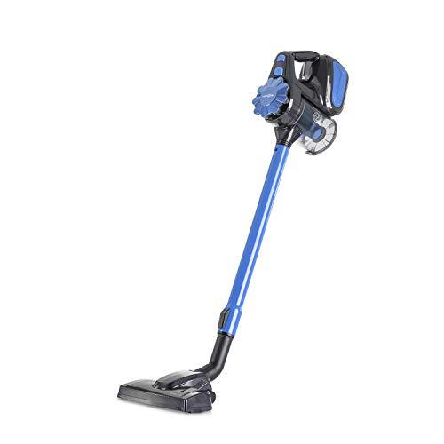 oneConcept CleanTurbo aspiradora de mano • Aspiradora ciclónica • Sin bolsa • Tubo metálico telescópico • 600 W • Depósito de 0,6 litros • Sistema MultiCyclonic • 7 m de cable • Boquilla 2 en 1 • Azul