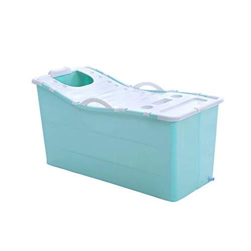 XU FENG Tragbare Erwachsene Faltbare Badewanne Kunststoff Kinder Schwimmbad Kinder Bad Barrel Haushalt Große Badewanne mit Abdeckung, Abgedeckte Badewanne für Bad Home Einfache Lagerung